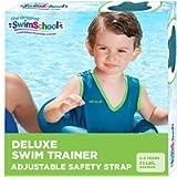SwimSchool Original Deluxe TOT Swim Trainer for Kids, Toddler Swim Vest, Learn-to-Swim, Adjustable Safety Seat, Berry…