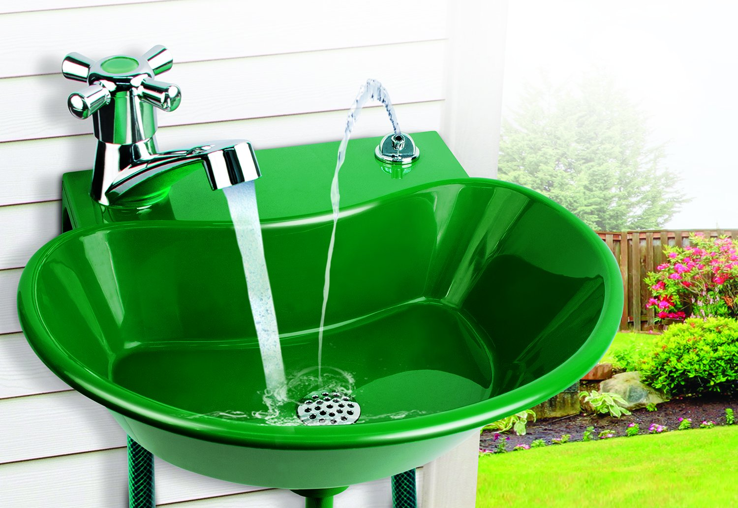 Amazon.com : 2 IN 1 OUTDOOR SINK AND DRINKING FOUNTAIN : Garden ...