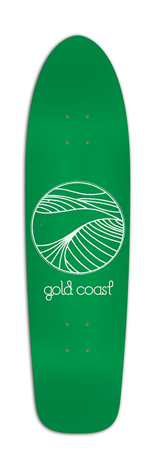 Goldcoast Longboard Deck Renegade Skateboard Classic Metal Flake Gold Coast LB-CMF-R32