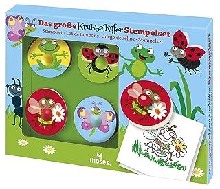 moses. Verlag GmbH 16098 - Set di 4 timbri in Legno, per Bambini dai 4 Anni in su, Multicolore