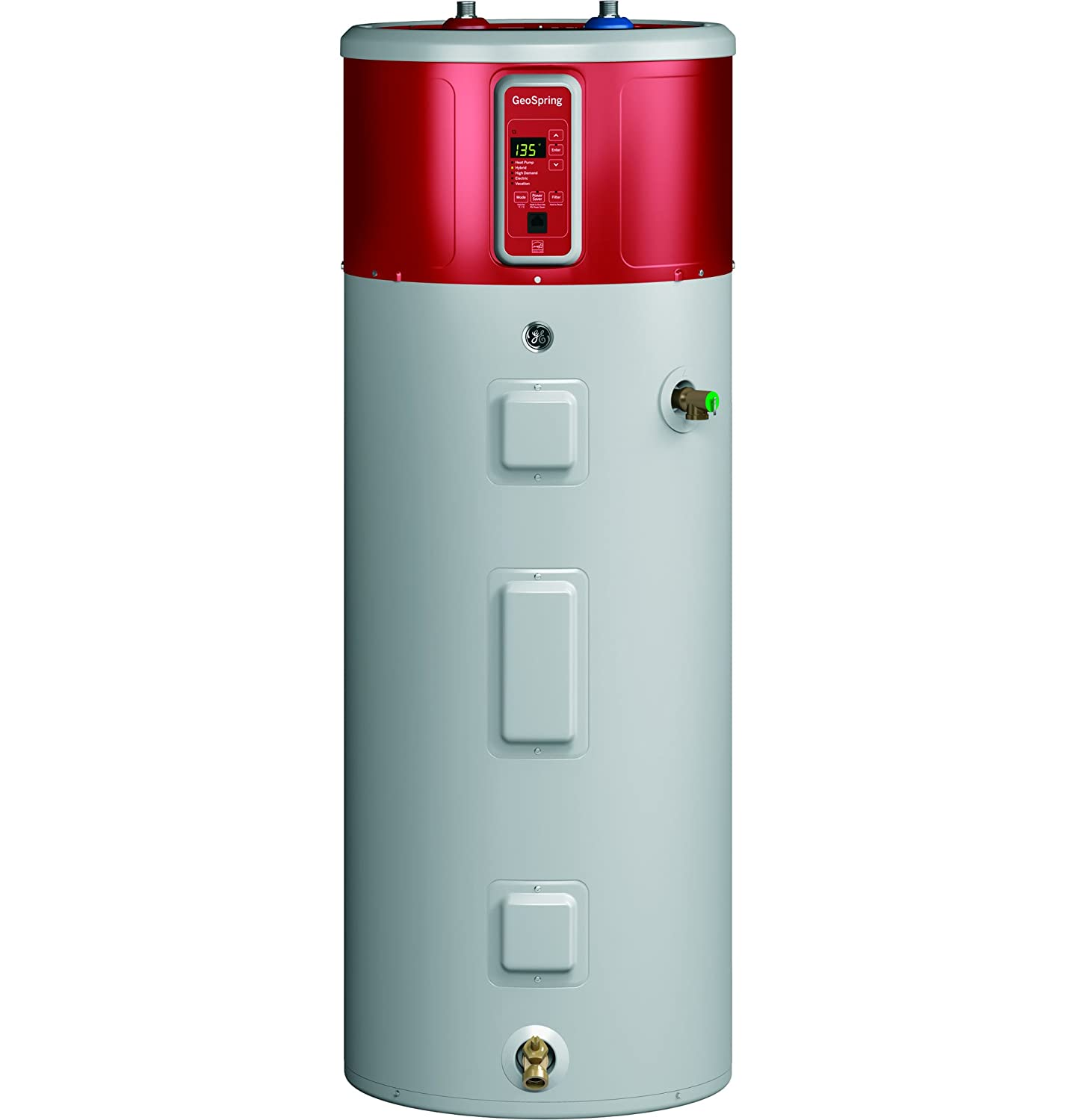 General Electric GEH80DFEJSR Hybrid Water Heater, 80-Gallon ...