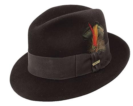 3c977841 Stetson Frederick Wool Felt Fedora at Amazon Men's Clothing store: