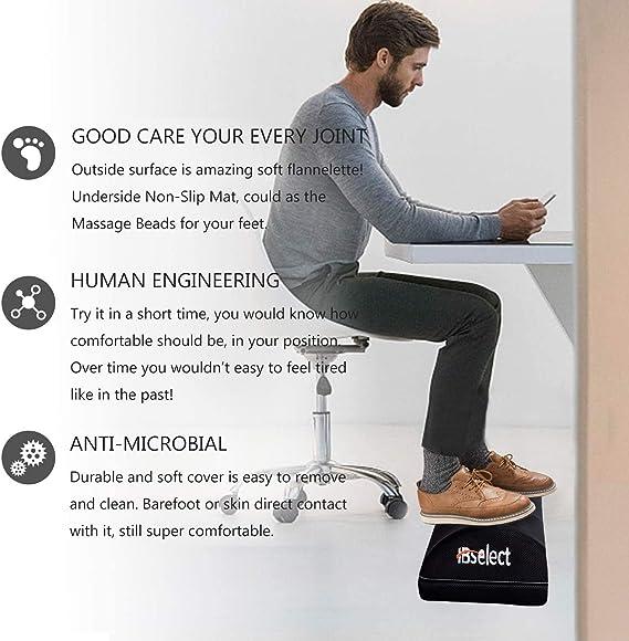Viitech viaggio per ufficio Poggiapiedi ergonomico da scrivania in morbida schiuma antiscivolo casa