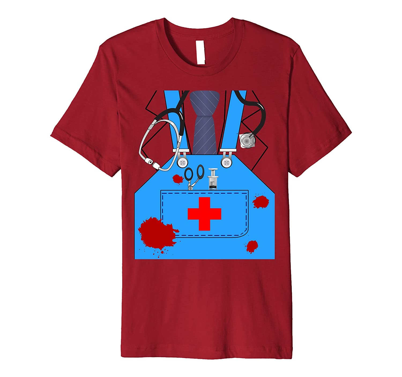 Bloody Surgeon Doctor Halloween Costume Premium T-shirt