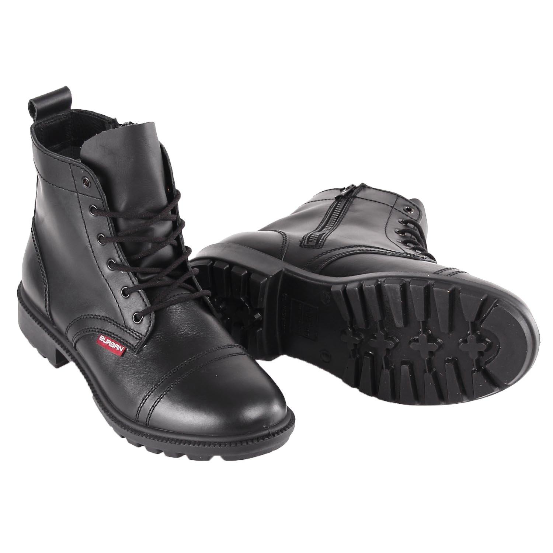 BURGAN 842 Short All Leather Desert Boot (Unisex) 48 (US Mens 14.5), Black