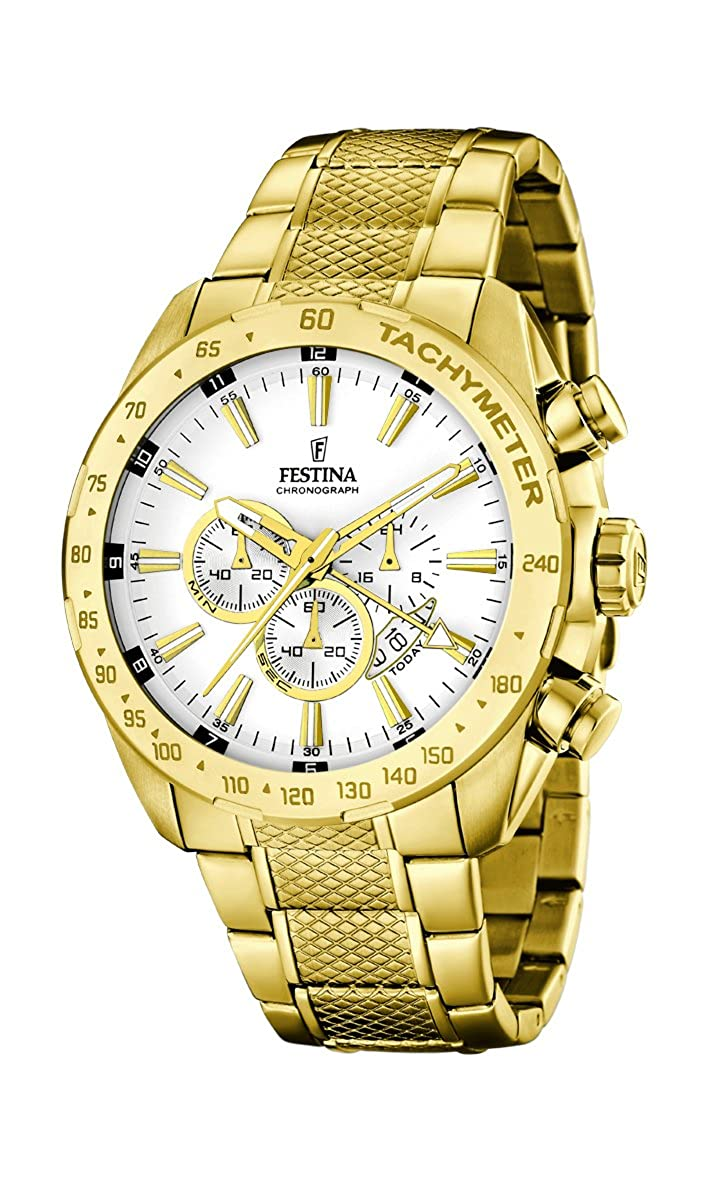 Amazon.com: Festina Chronograph F16878/1 Mens Chronograph Classic & Simple: Watches