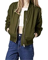 StyleDome Women Short Biker Bomber Jacket Classic Quilted Coat Outdoor Hoodies