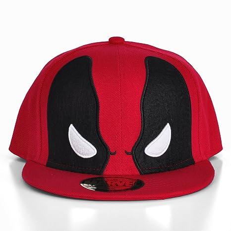 Deadpool Marvel Comics Gorra para Hombre, máscara, Gorra de Baseball, Color Rojo: Amazon.es: Deportes y aire libre