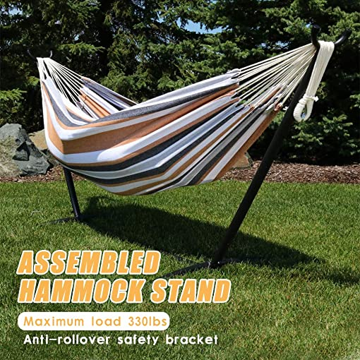 OffiClever Hammock Stand Portable Heavy Duty Hammock Stand Portable Steel Stand Only for Outdoor Patio or Indoor with Carrying Case No Hammock