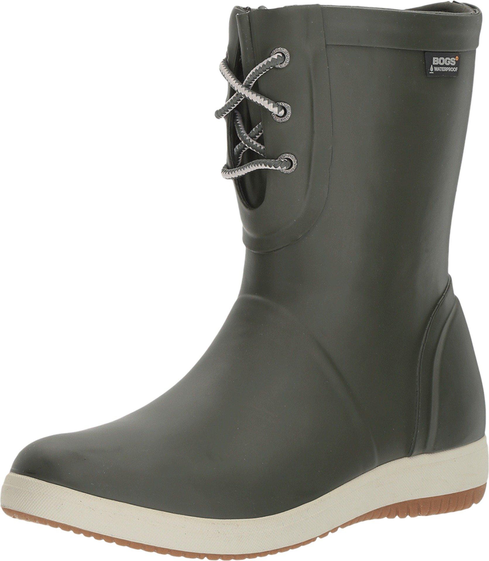 Bogs Women's Quinn Lace Up Rain Boot,Loden,US 11 M