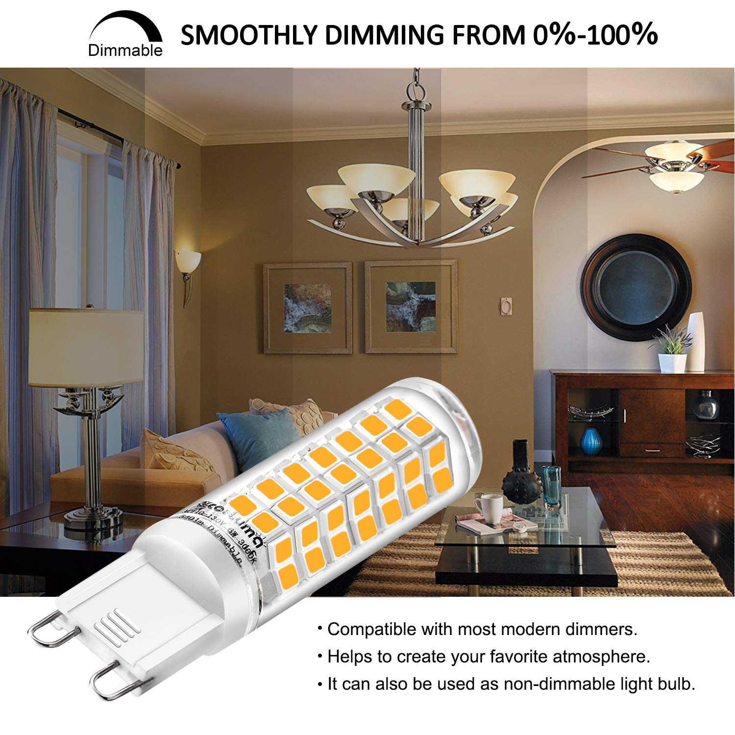 G9 LED replacement bulbs are dimmable