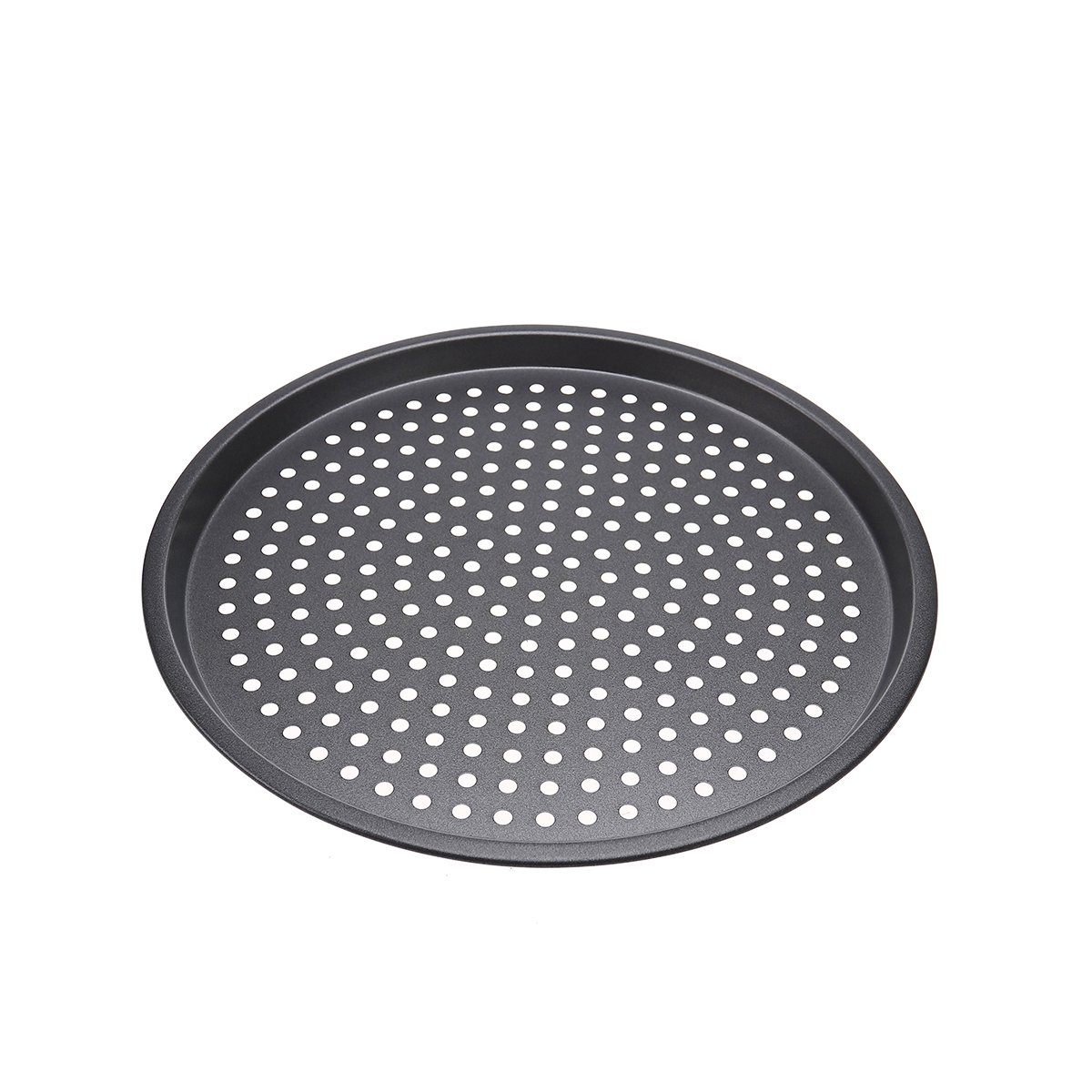 OUNONA 12-inch Non-Stick Pizza Crisper Tray,Nonstick Pizza Pan Baking Tray Plate with Holes