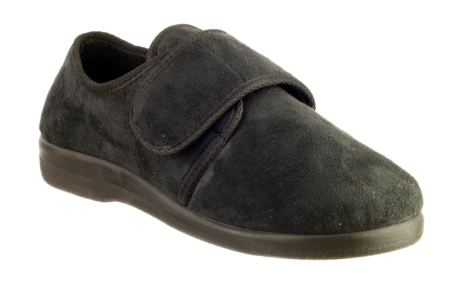 GBS Med LEWISHAM Unisex Medical Touch Fasten Slippers Black