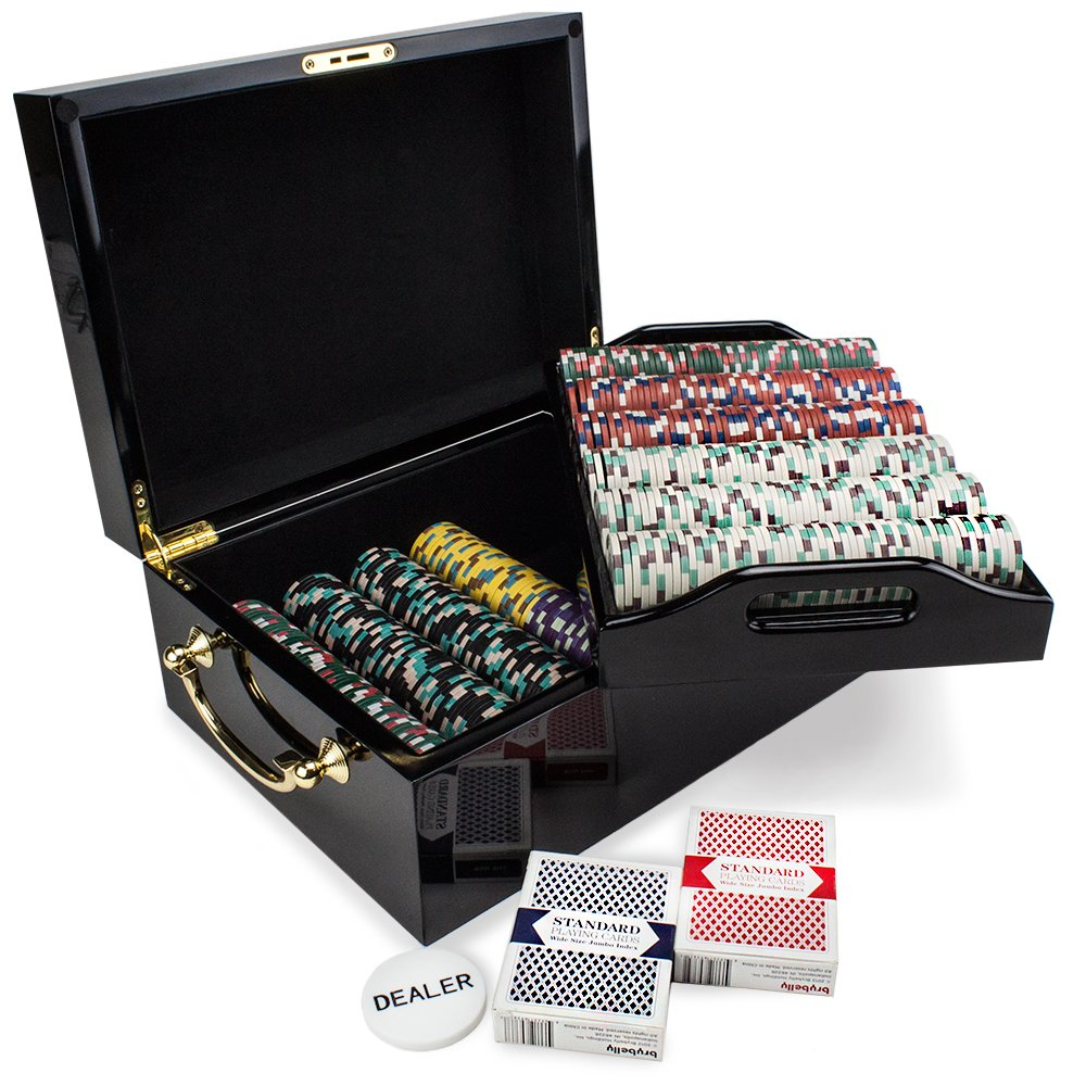 500 Ct Showdown B01L2WMIH2 Poker ChipセットinブラックマホガニーCarryケース、13.5-gram HeavyweightクレイComposite by by Claysmithゲーム Ct B01L2WMIH2, 里庄町:63a8b75c --- itxassou.fr