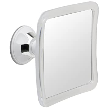 Mirrorvana Fogless Shower Mirror With Lock Suction Cup, 6.3 X 6.3 Inch