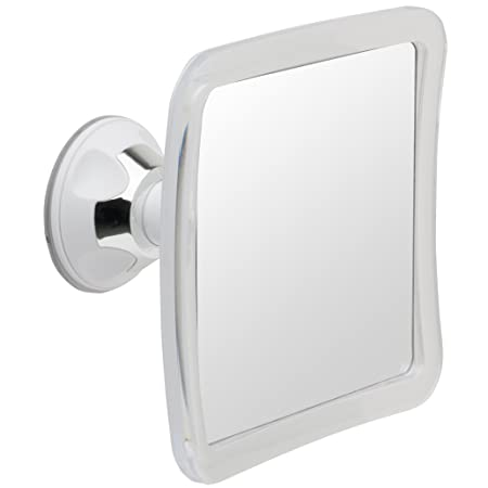 mirrors mirror lighted fogless asp image with clock in shower