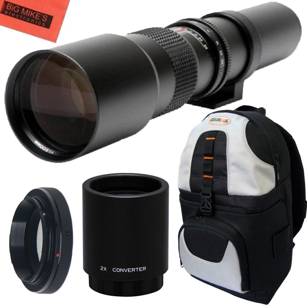 高電力500 mm/ DSLR 1000 mm/ F// 8手動望遠レンズ+デラックスSLRバックパックfor Nikon d90、d80、d70、d60、d40、d40 X、d3 X、d3s、d3000、d3100、d3200、d3300、d5000、d5100、d5200 , d5300 , d5500 , d7000、d7100、d7200、d300、d300s、d600、d610、d700、d750、d800、d800e、d810、d810 a DSLR B00NC38AKO, GLOBAL MOTO:7eee14c1 --- ijpba.info