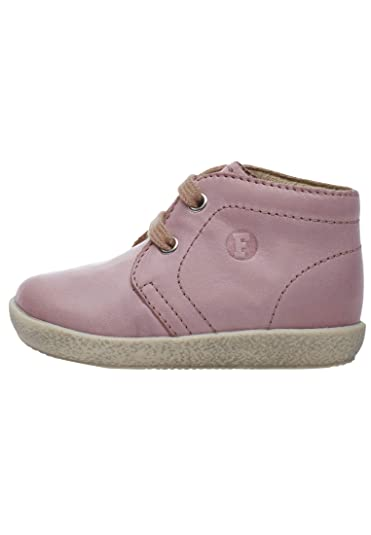 Falcotto CIGNO-Sneakers aus Metallic-Leder und Spitze-Rosa
