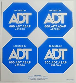 Amazon.com : ADT Window Sticker Decal Authentic Dark Blue ...