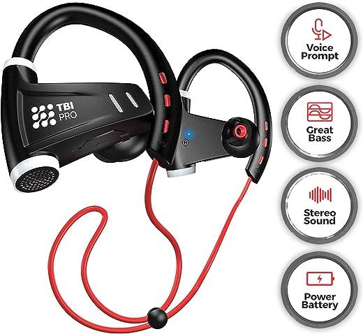 [Upgraded 2020] 12+Hours Sport Bluetooth Headphones - Professional Wireless Sport Earphones w/Mic...