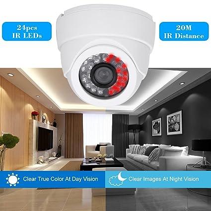 "KKmoon Seguridad Cámara, 1/3"" CCD 1000TVL 24 LED IR Corte de Interior"