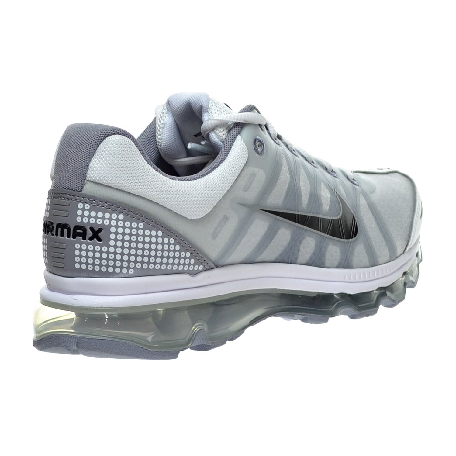 the best attitude 52725 f367f Amazon.com   Nike Air Max 2009 Men s Shoes White Black Stealth 486978-101    Running