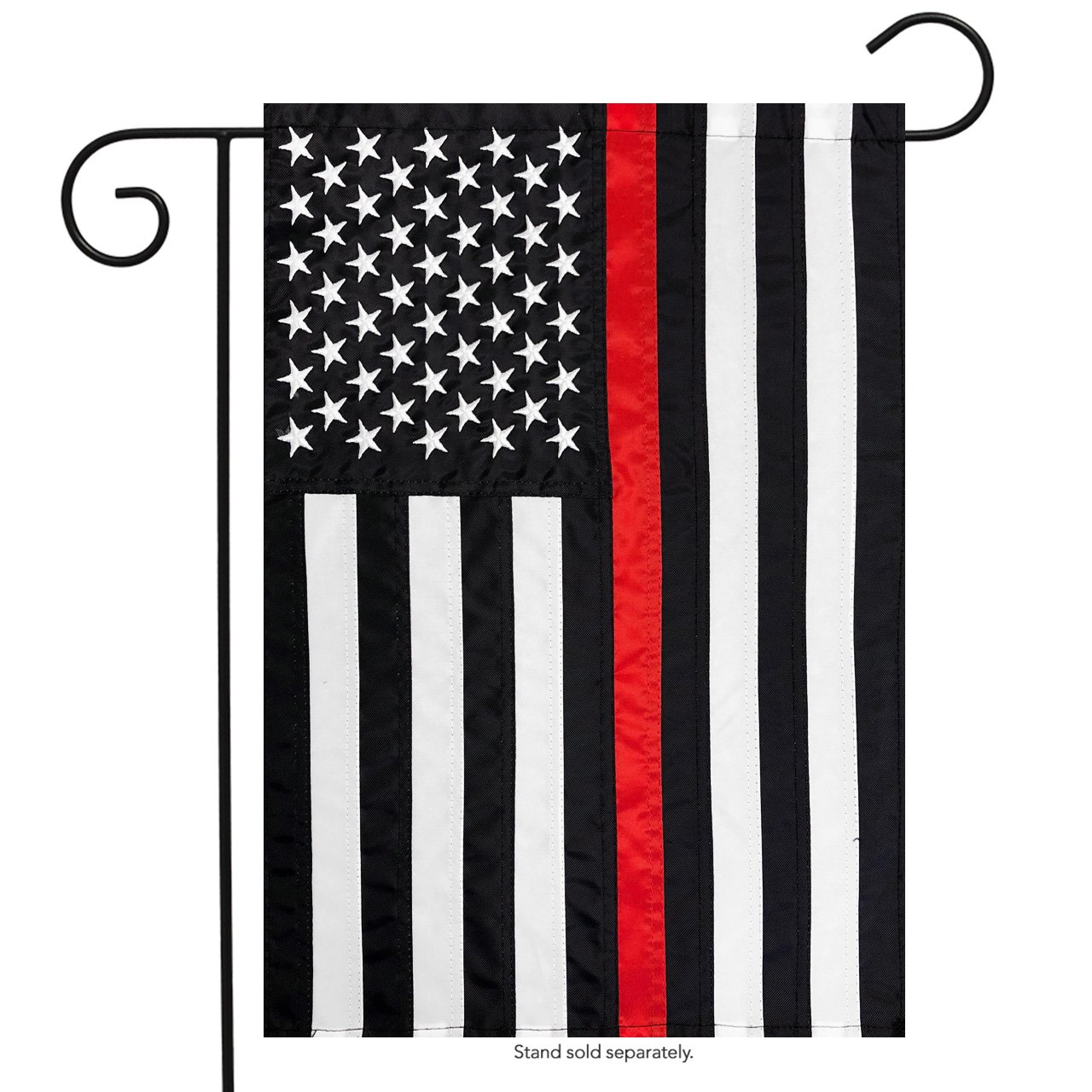 """Briarwood Lane Thin Red Line Garden Embroidered Flag Firefighter 12.5"""" x 18"""""""