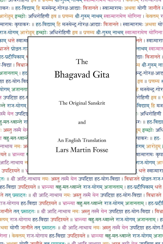 The Bhagavad Gita: Amazon co uk: Lars Martin Fosse