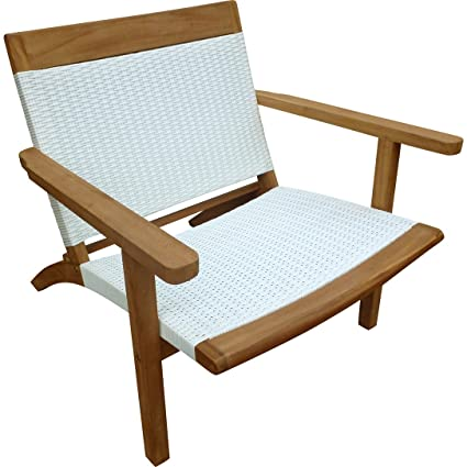Amazon Com Teak Wood Barcelona Outdoor Patio Lounge Chair