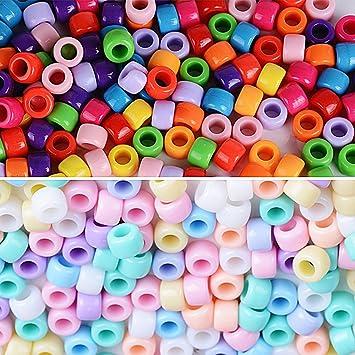 335ef4540760 2000pcs Cuentas Abalorios de Colores Acrílico Granos de Espaciador Perla  Plástico Mezcla para Manualidades Bricolaje DIY Regalo Cadena Collar Joyas  (8 ...