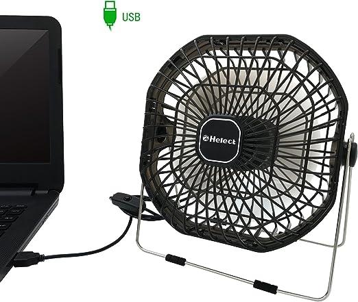 Helect 18cm Portátil Mini Ventilador USB de Mesa, Ruido Bajo ...