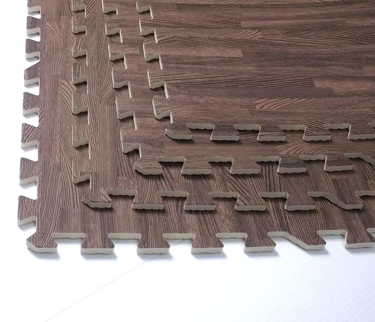 Amazon.com : 96 SQFT Wood Grain Interlocking Foam Anti Fatigue Flooring  2'x2'x3/8