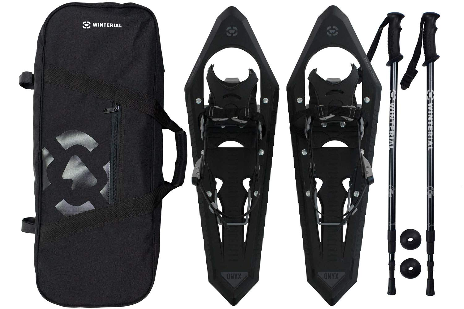 68e0162eb904 Amazon.com   Winterial Premium Snowshoes 25 Inch Mountain Terrain Black Snow  Shoes with Quick Fit Bindings Carry Bag and Adjustable Poles   Sports   ...