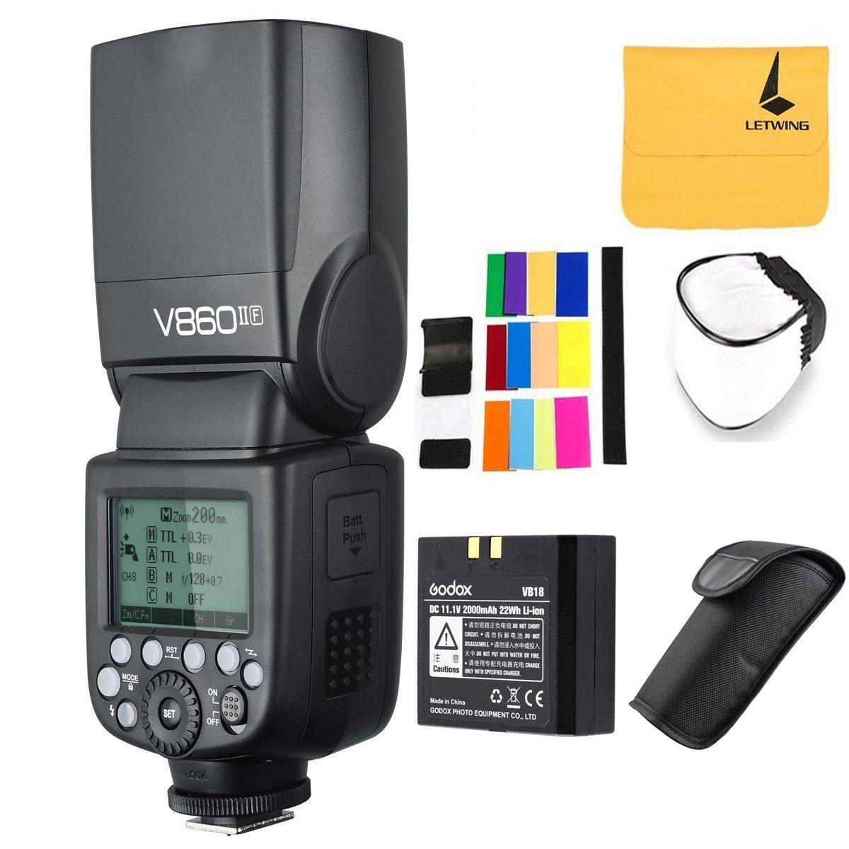 GODOX V860II-F 2.4G TTL Li-on Battery Camera Flash Speedlite for Fujifilm Camera X-Pro2 X-T20 X-T1 X-T2 X-Pro1 X100F