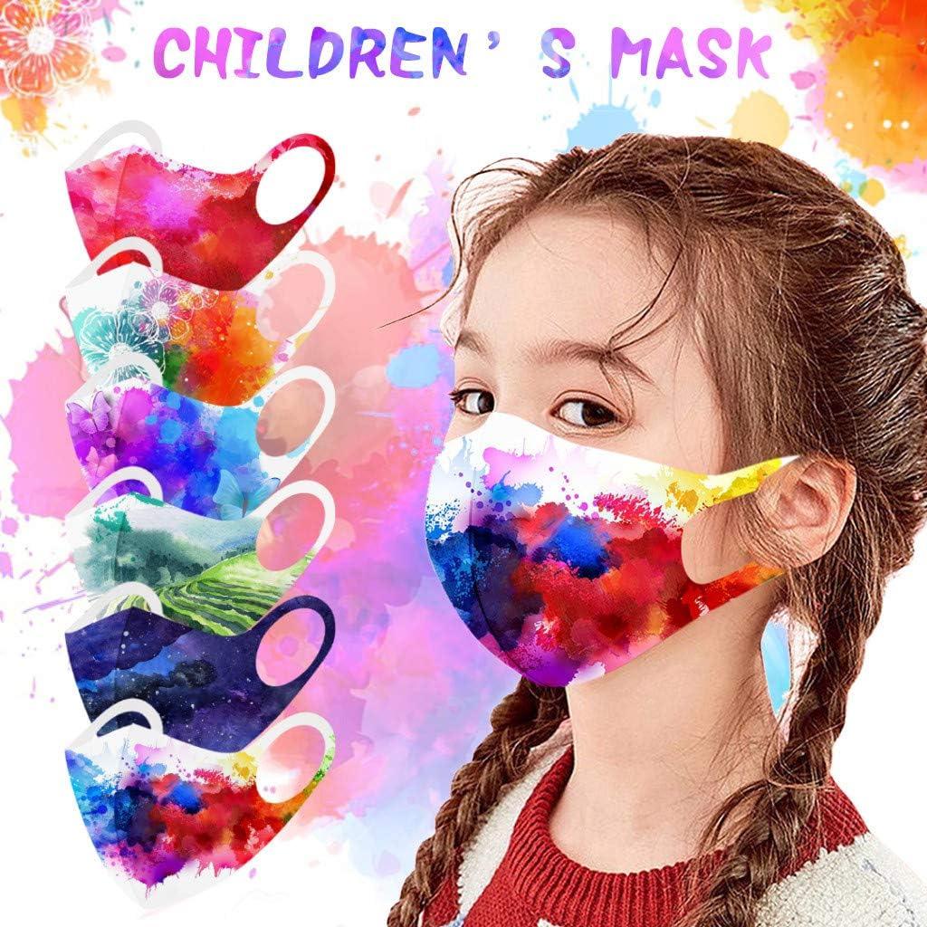 12 Piezas m_ascarillas Infantil Reutilizables Lavables Antipolvo antivaho impresión Protección Infantil