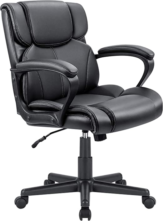 Furmax Mid Back Executive Office Chair Swivel Computer Task Chair with Armrests - Fantastic Quality Content