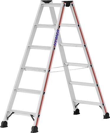 Hymer 402412 - Escalera de mano (aluminio, 12 peldaños): Amazon.es: Bricolaje y herramientas