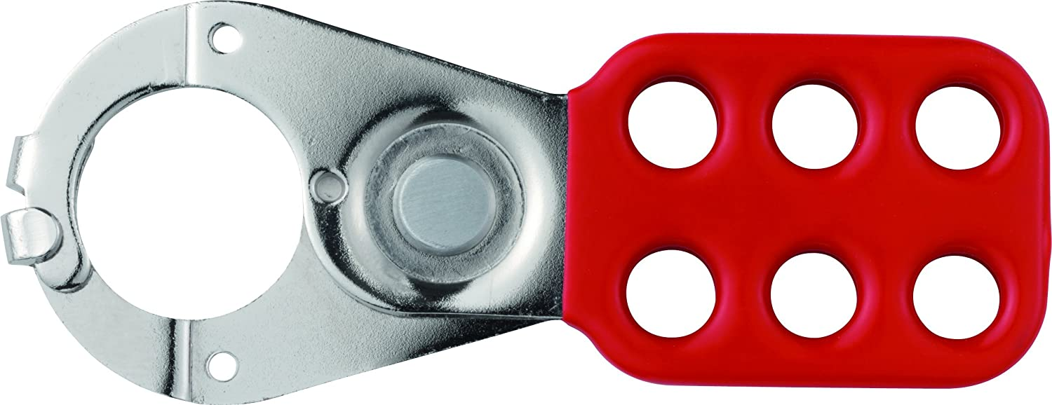Abus - 801 Lock Out Hasp 1in Rouge avec pince - ABU801R 33551