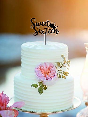 Amazon.com: Sweet Sixteen Birthday Cake Topper/Bithday Cake Topper ...