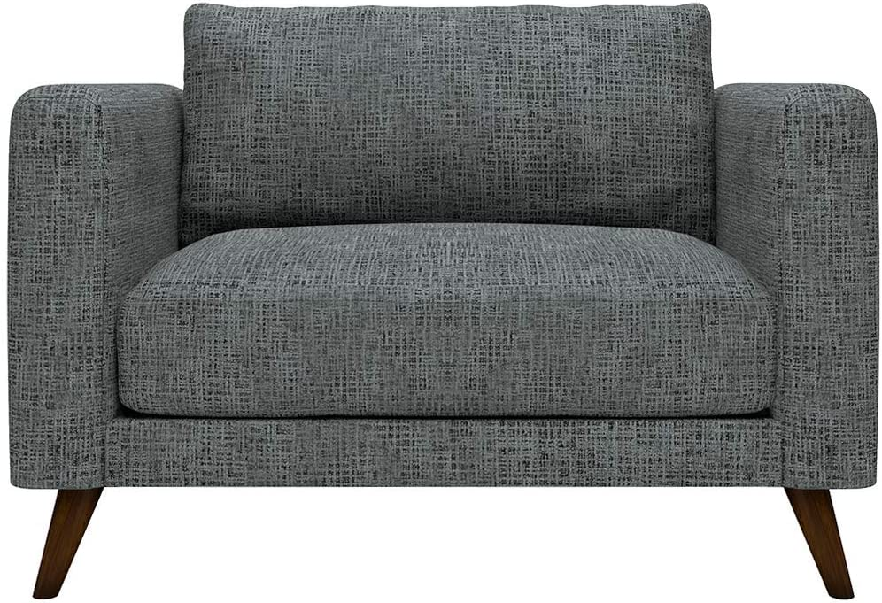Sofab Tilly Chair-And-A-Half Upholstered Accent Seat, Blaine Grey