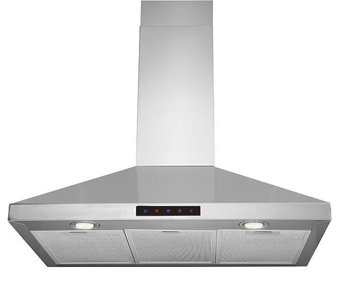 Kitchen Bath Collection STL75-LED 30″ Stainless Steel Wall-Mounte Kitchen Range Hood