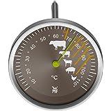 WMF Bratenthermometer Scala Grillthermometer Steakthermometer mit Markierung der empfohlenen Garpunkte für Steak Rind Kalb Lamm Schwein und Geflügel Sonde bis 110°C