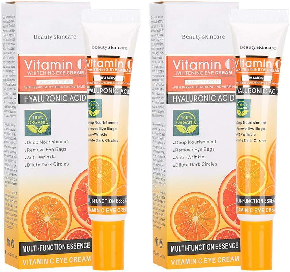 2pcs 25ml Vitamina C Crema para los ojos Antiarrugas ...