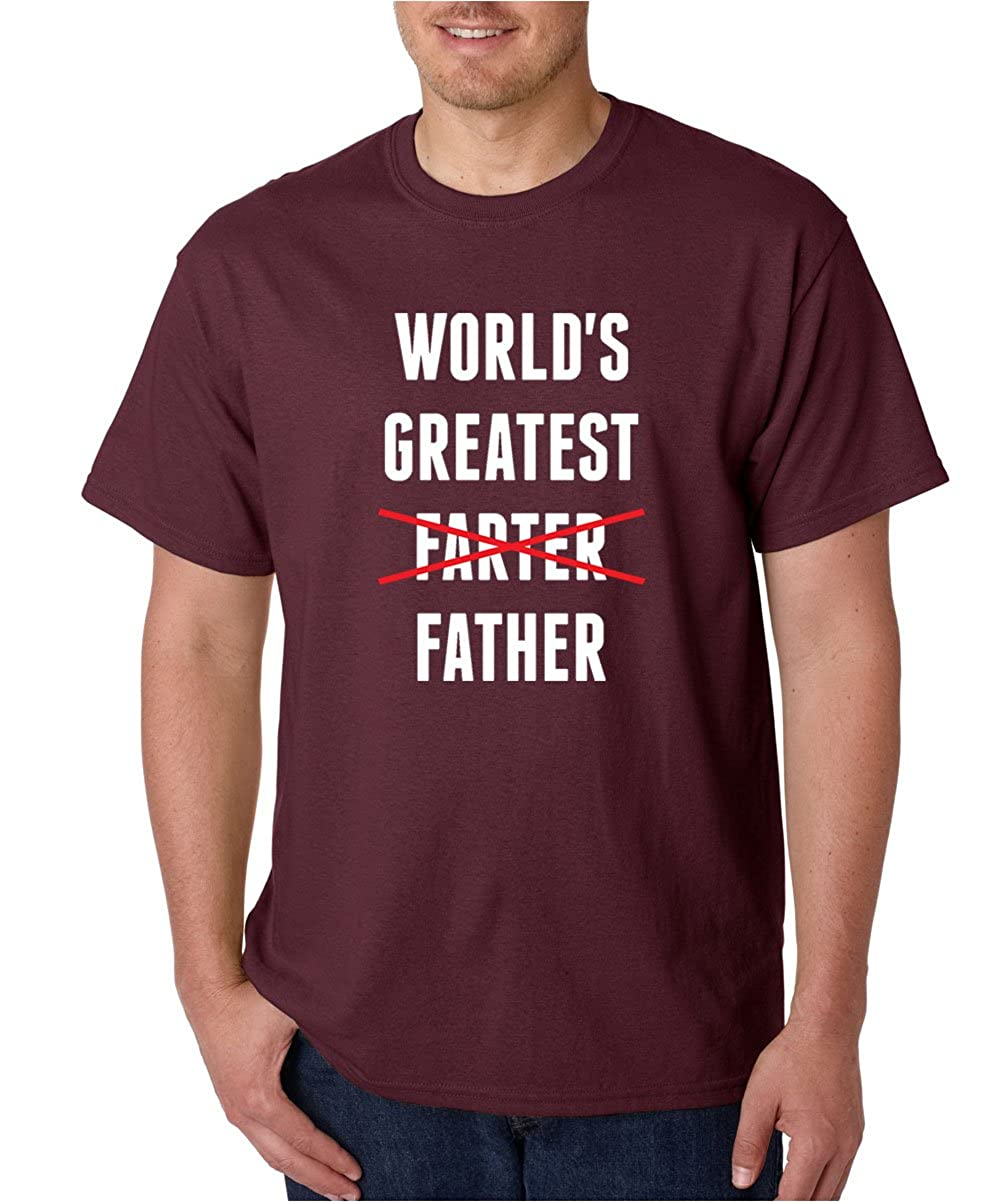 28a0bcab Amazon.com: CBTWear Worlds Greatest Farter, I Mean Father - Funny Dad Gifts  - Fathers Day Premium Men T-Shirts: Clothing