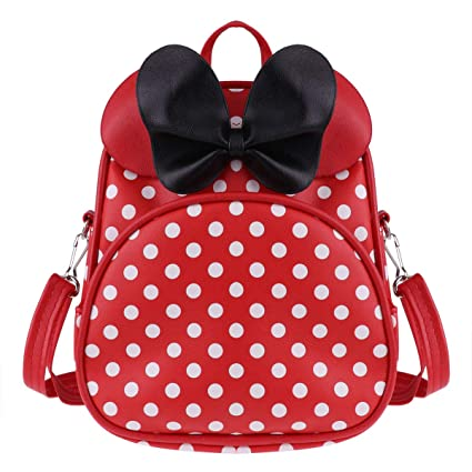 Amazon.com | FEESHOW Kids Backpack Bow Tie Polka Dots Primary School Bag for Little Girls Red One Size | Kids Backpacks