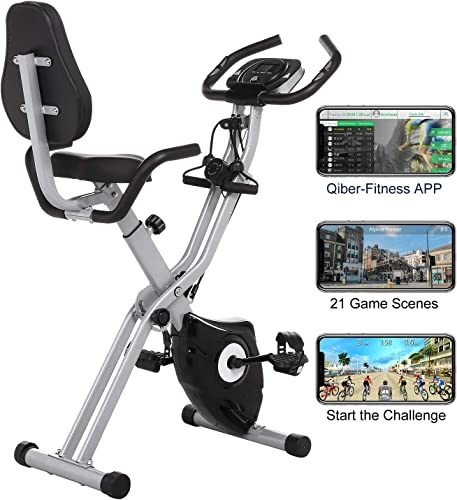 FUNMILY Exercise Bike Foldable Stationary
