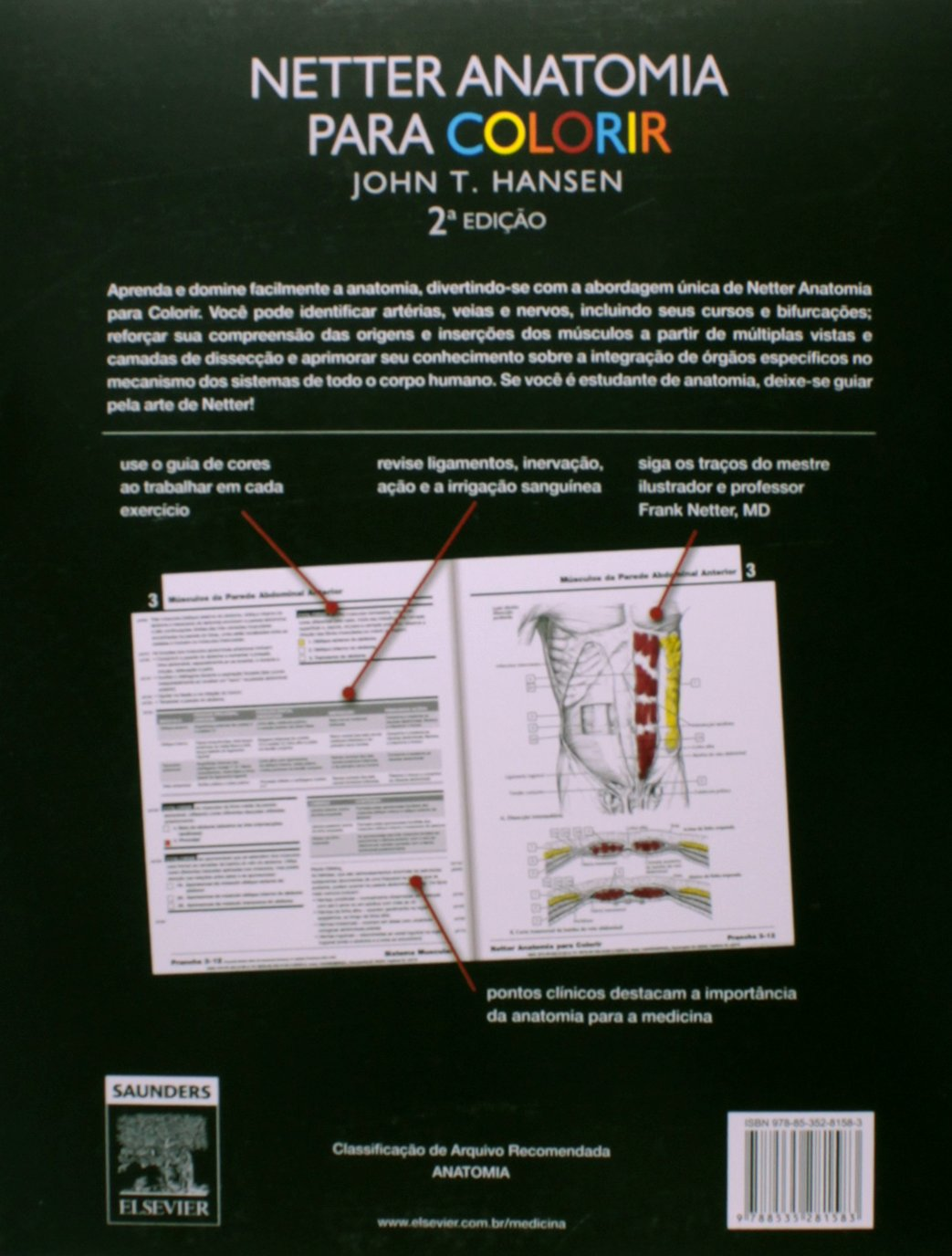 Netter Anatomia Para Colorir (Em Portuguese do Brasil): John T ...