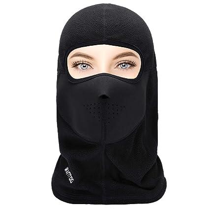 Wantdo Balaclava Winter Face Mask Ski Mask Windproof Thermal Fleece Mask  Neck Warmer Balaclava Hood for ed894a734b6