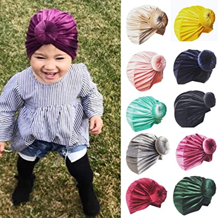 d86a0003 Amazon.com: Gbell Newborn Toddler Turban Beanie Hat Kids Baby Infant Winter  Autum Spring Headwear Bonnets Hat for Baby Boy Girls,Assorted Solid Colors:  ...