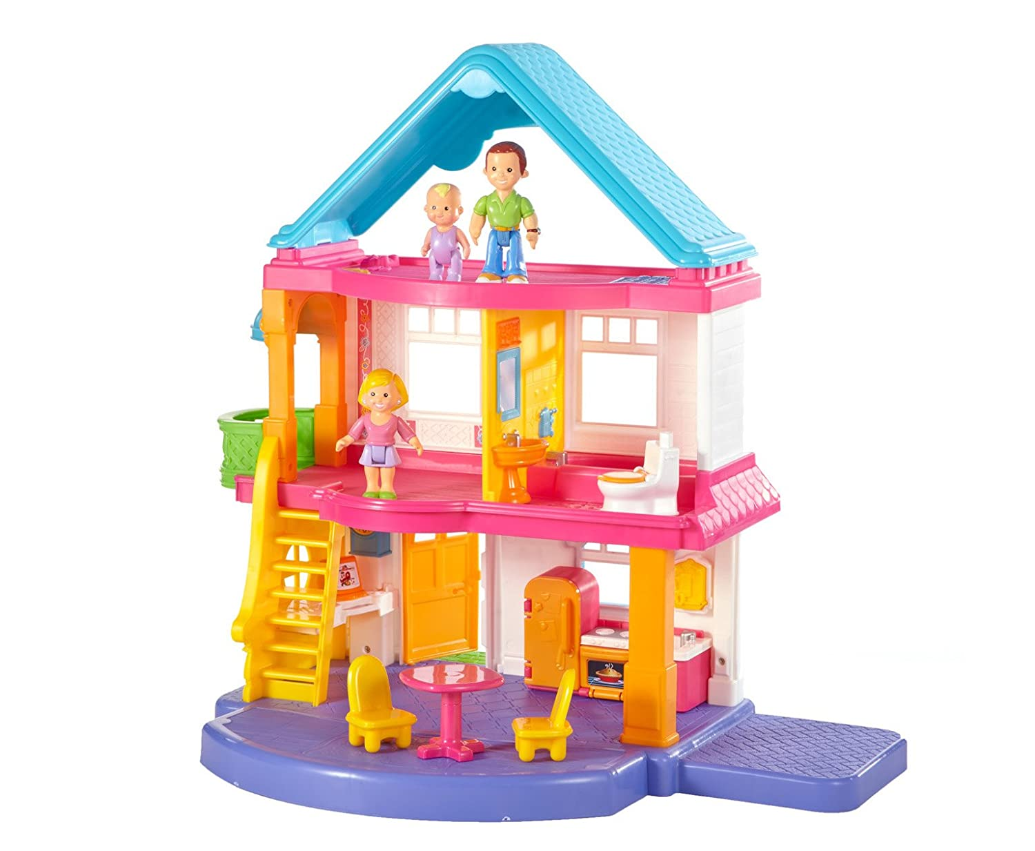 Fisher price doll house furniture - Amazon Com Fisher Price Loving Family My First Dollhouse Toys Games